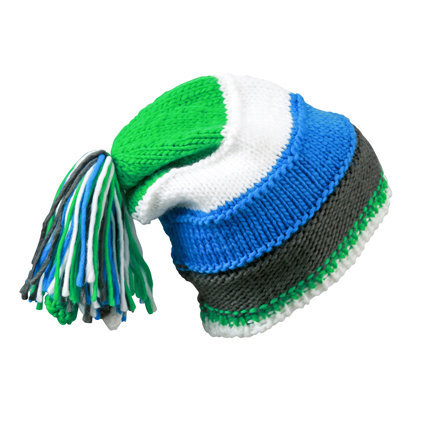 Унисекс шапка с пимпон син