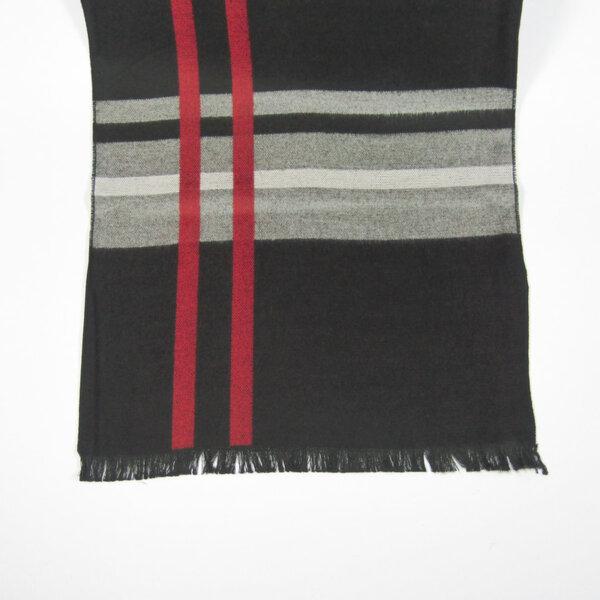 Мъжки шал черно/бордо