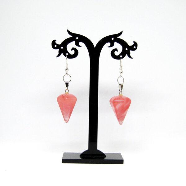 """Дамски обеци """"Pink quartz"""""""