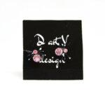 Дамски обеци- паячета с черни крачета