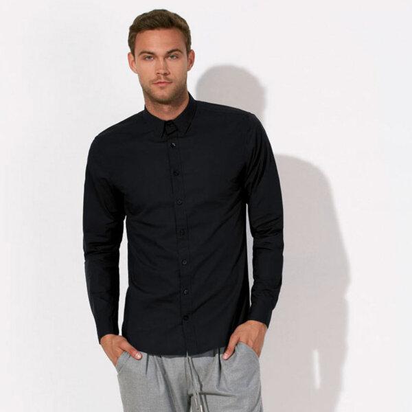 Кежуал мъжка риза - черен