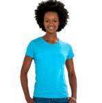 Дамска памучна тениска с къс ръкав в 5 цвята