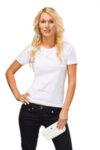 Дамска памучна тениска с модна кройка 14 цвята