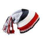 Унисекс шапка с пимпон червен