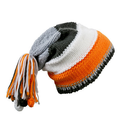 Унисекс шапка с пимпон оранж