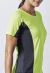 Двуцветна дамска спортна тениска