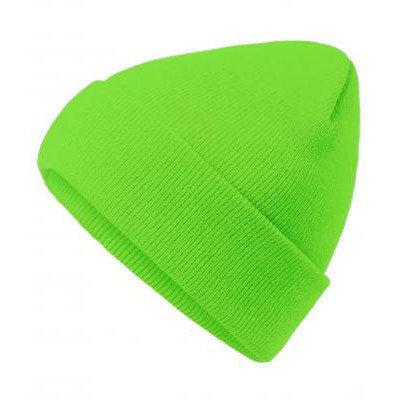 Унисекс шапка неоново зелен