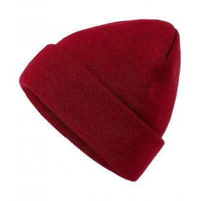 Унисекс шапка бургундско червено