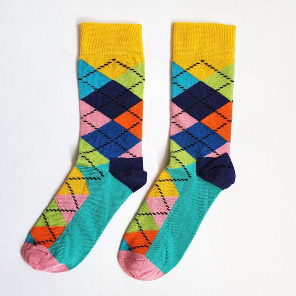 Дамски чорапи на квадрати