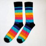 Мъжки шарени чорапи на райе