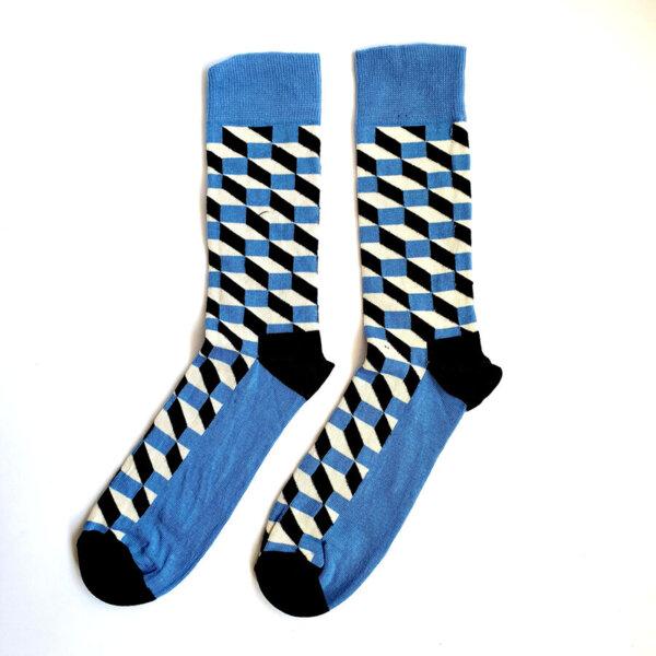 Мъжки шарени чорапи в синьо