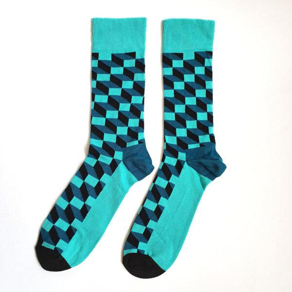 Мъжки чорапи с геометрични форми