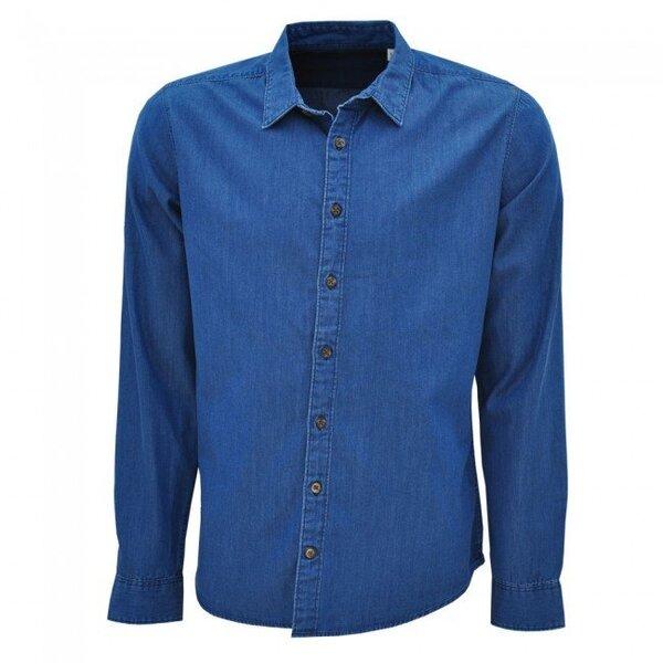 Кежуал дънкова мъжка риза