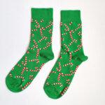 Дамски коледни чорапи с бастунчета