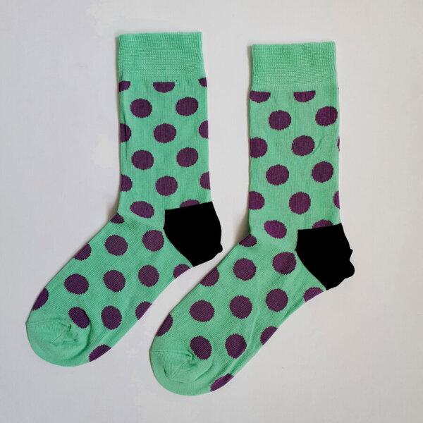 Дамски чорапи на лилави точки