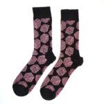 Дамски чорапи с розови кубове