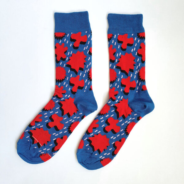 Дамски чорапи с есенни листа