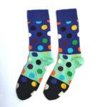 Дамски трицветни чорапи на точки