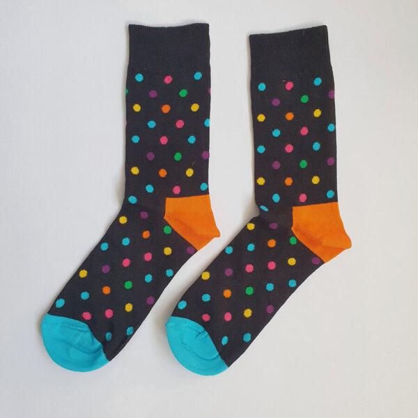 Дамски чорапи с шарени точки