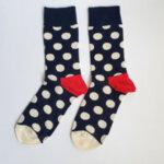 Дамски чорапи на бели точки
