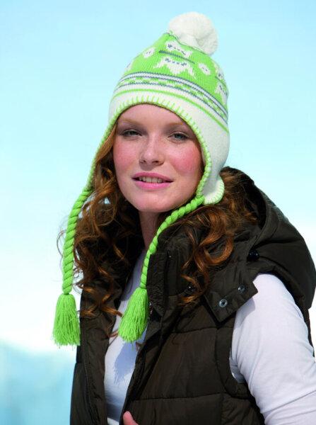 Трикотажна норвежка унисекс шапка