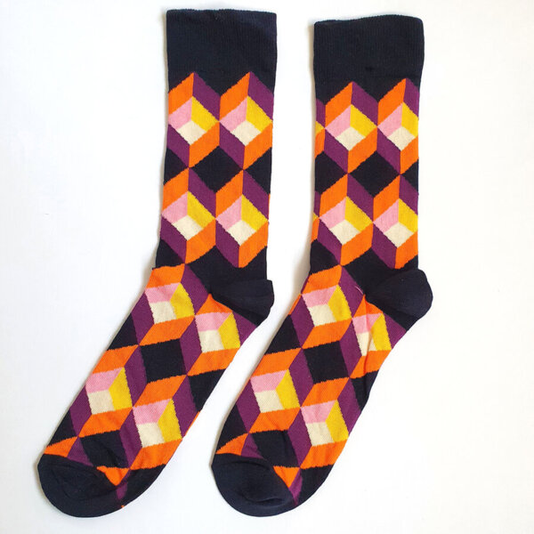 Мъжки шарени чорапи с фигури