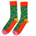 Мъжки коледни чорапи с еленчета