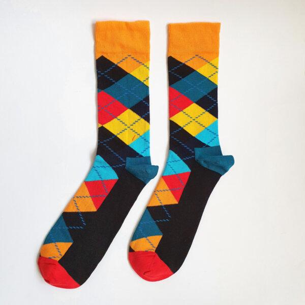 Мъжки класически цветни чорапи