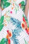 Дамска лятна рокля с тънки презрамки в бяло
