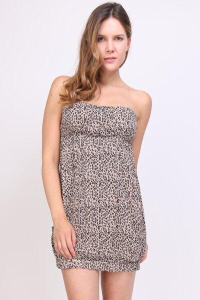 Дамска ежедневна рокля с голи рамене
