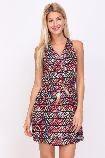 Дамска многоцветна лятна  рокля