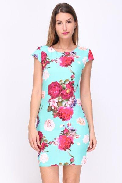 Дамска ежедневна рокля на цветя