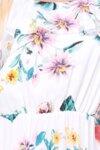Дамска рокля на цветя в бяло