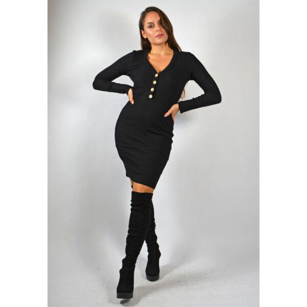 Мини дамска рокля черна