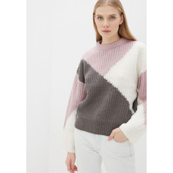 Дамски пуловер в три цвята розов
