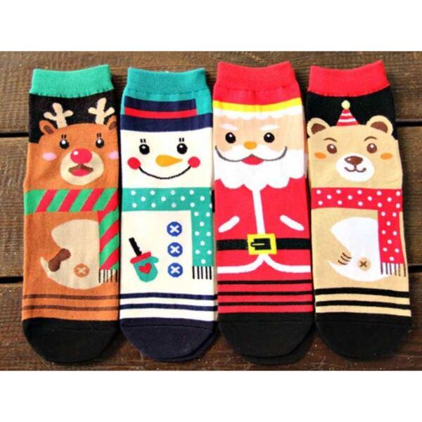 Дамски коледни чорапи - комплект от 4 чифта