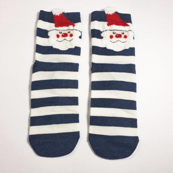 Дамски чорапи с Дядо Коледа райе