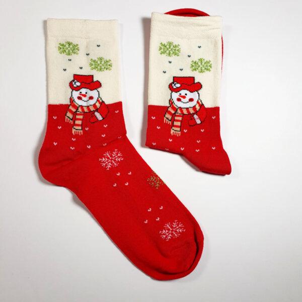 Дамски ароматизирани чорапи бял и червен