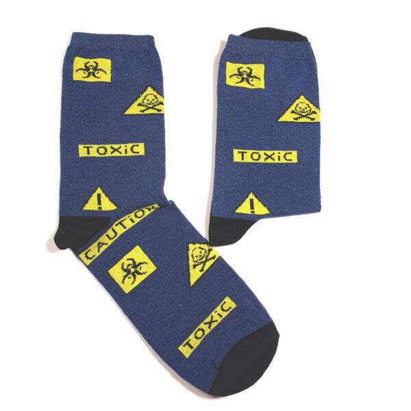 Забавни дамски чорапи Вирус токсик