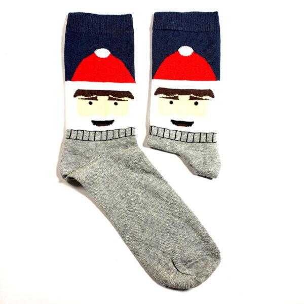 Мъжки коледни чорапи сив-тъмносин
