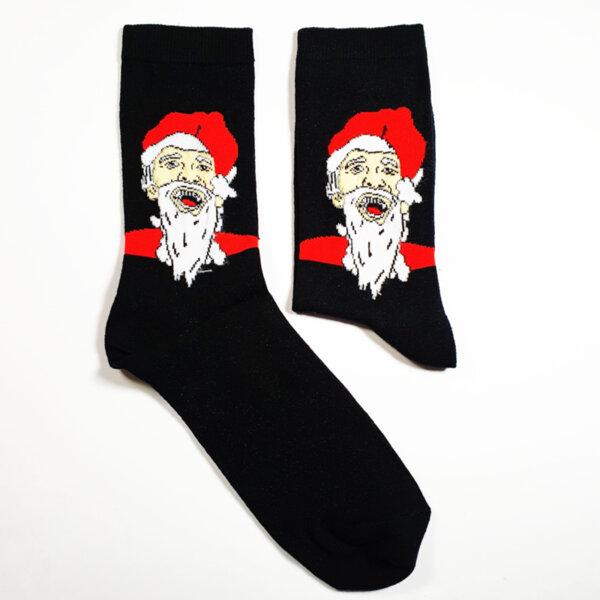 Мъжки коледни чорапи с усмихнат Дядо Коледа