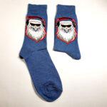 Коледни мъжки чорапи Дядо Коледа слуша музика