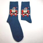 Коледни мъжки чорапи Дядо Коледа цензуриран