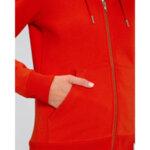 Дамски суичър с качулка в тъмносин цвят-Copy