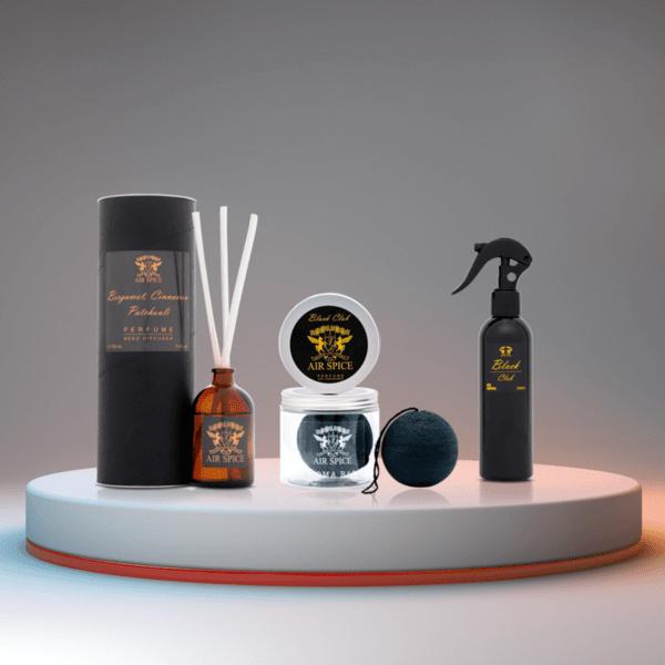 Black Club 3 в 1 - Дифузер, Спрей и Арома Топка (аромат на бергамот, канела и пачули)