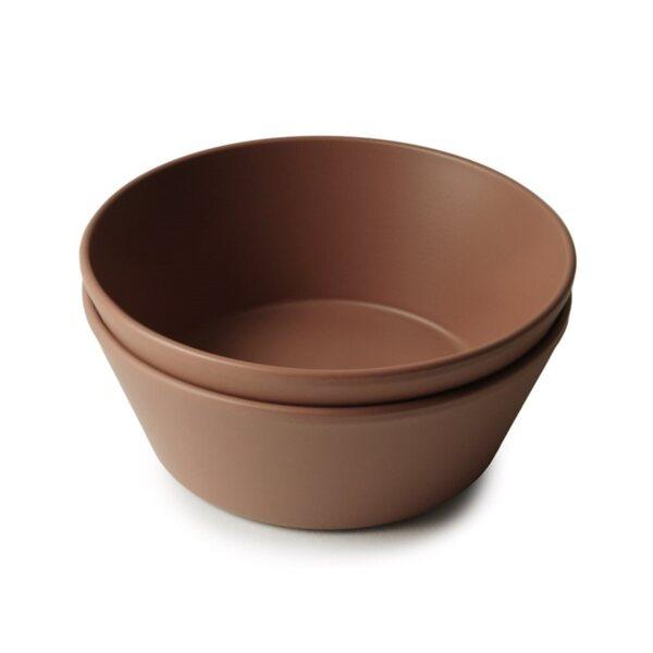 Mushie Детска кръгла купа, комплект 2бр.
