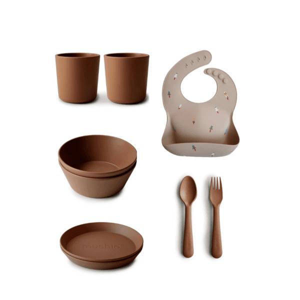 Комплект за хранене  Mushie - 9 части