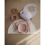 Mushie Детска чиния, комплект 2бр.- розови