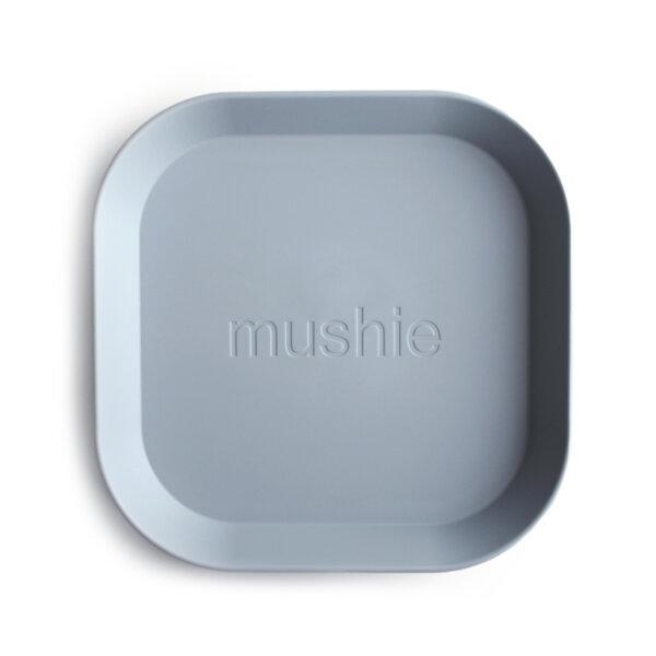 Mushie Детска чиния, комплект 2бр.- сини