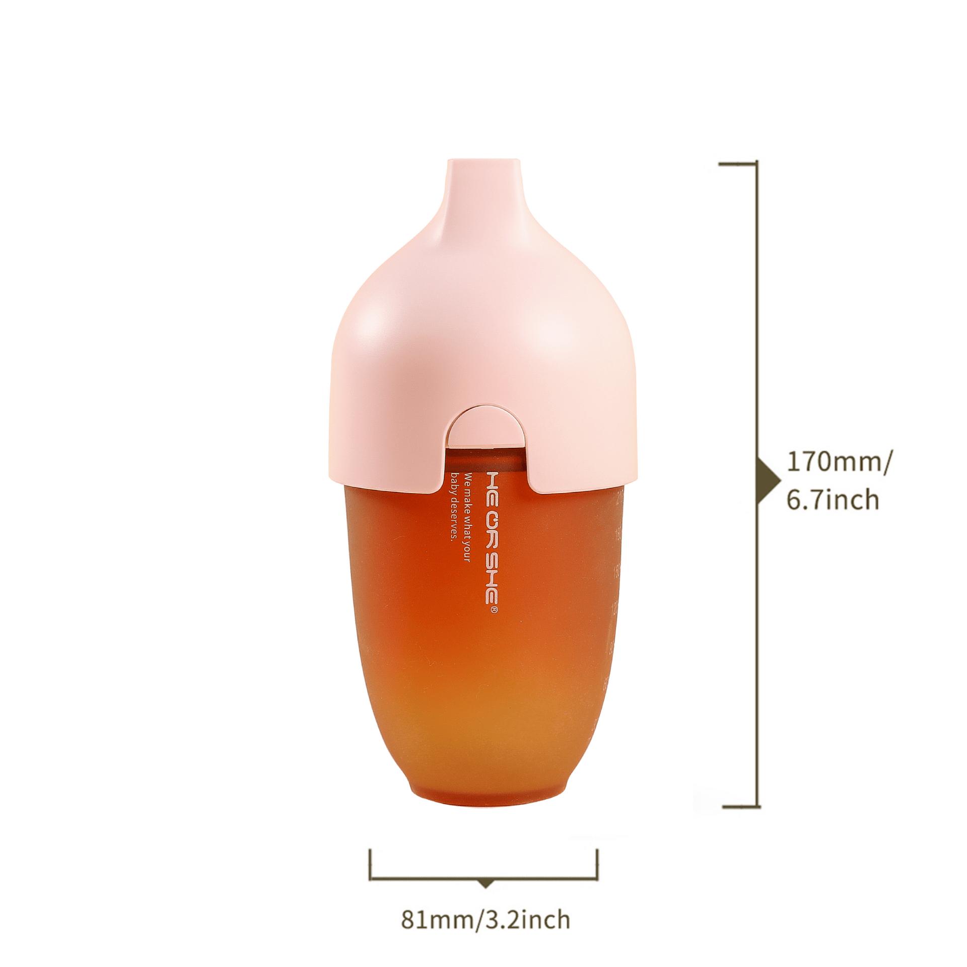 Бебешка бутилка He or She 240мл.- 6+ месеца - розова
